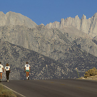 Racers approach Mount Whitney.