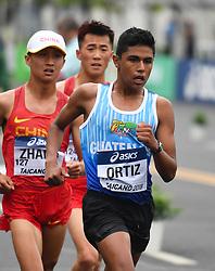 TAICANG, May 5, 2018  Guatemala's Jose Eduardo Ortiz competes during the Men's 10km competition at the IAAF World Race Walking Team Championships Taicang 2018 in Taicang, east China's Jiangsu Province, May 5, 2018. (Credit Image: © Ji Chunpeng/Xinhua via ZUMA Wire)