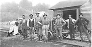 This photo depicts a Northern Pacific Railway (USA) section crew.  The unidentified crew members and, what appears to be family,1880's