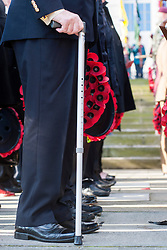 Veterans organisations wait to lay their wreaths of poppies at the Barnsley War Memorial on Remembrance Sunday as Barnsley Marks the Centenary of the out break of World War I<br /> <br /> 09 November 2014<br /> <br /> Image © Paul David Drabble <br /> <br /> www.pauldaviddrabble.co.uk