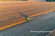 63801-12817 Harvesting corn in fall-aerial  Marion Co. IL
