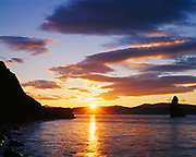 Sunrise over Nunavachak Bay, Togiak National Wildlife Refuge, Bristol Bay of the Bering Sea, Alaska.