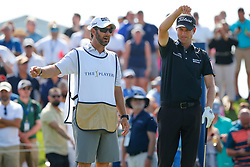 March 15, 2019 - Ponte Vedra Beach, FL, U.S. - PONTE VEDRA BEACH, FL - MARCH 15: Webb Simpson of the United States and caddie Paul Tesori discuss a shot on the third hole during the second round of THE PLAYERS Championship on March 15, 2019 on the Stadium Course at TPC Sawgrass in Ponte Vedra Beach, Fl.  (Photo by David Rosenblum/Icon Sportswire) (Credit Image: © David Rosenblum/Icon SMI via ZUMA Press)