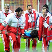 Eskisehirspor's goalkeeper Vanja IVESA during their Turkish Super League soccer match Galatasaray between Eskisehirspor at the Turk Telekom Arena at Seyrantepe in Istanbul Turkey on Sunday, 06 February 2011. Photo by TURKPIX