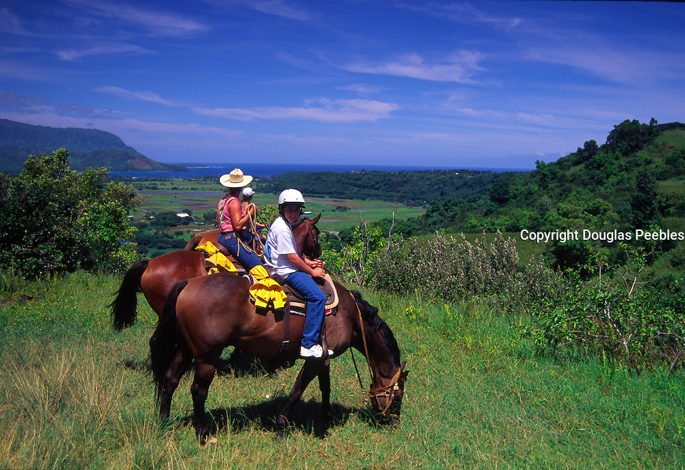 Horseback, Princeville, Kauai, Hawaii<br />