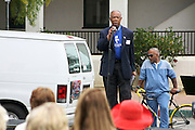 """19 January 2015-Santa Barbara, CA: Isaac Garret, Pres. MLK Jr. Comm. of Santa Barbara.  Santa Barbara Honors Dr. Martin Luther King Jr. with a Day of Celebration.  The Santa Barbara MLK, Jr. Committee chose """"Drum Majors for Justice"""" as it's theme for the day which included a Pre-March Program in De la Guerra Plaza followed by a march up State Street to the Arlington Theater for speakers, music and poetry.  The program concluded with a Community Lunch at the First United Methodist Church in Santa Barbara.  Photo by Rod Rolle"""