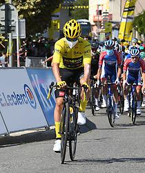 La Tour Du Pin Isere; le 15/09/2020 : Le slovene ROGLIC Primoz TEAM JUMBO - VISMA maillot Jaune au depart de la 16 eme etape du tour de France entre La Tour du Pin et Villard De Lans Isere.//ALLILIMOURAD_1750.1505/2009161603/Credit:ALLILI MOURAD/SIPA/2009161604 / Sportida