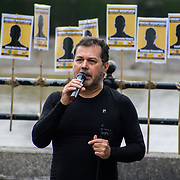 2021-08-30, London, UK. Colombian community London Performance play death of the unlawful killed of 6,402 of young people killed by the Colombian army to pass them off as guerrillas in Colombia at King Stairs garden.
