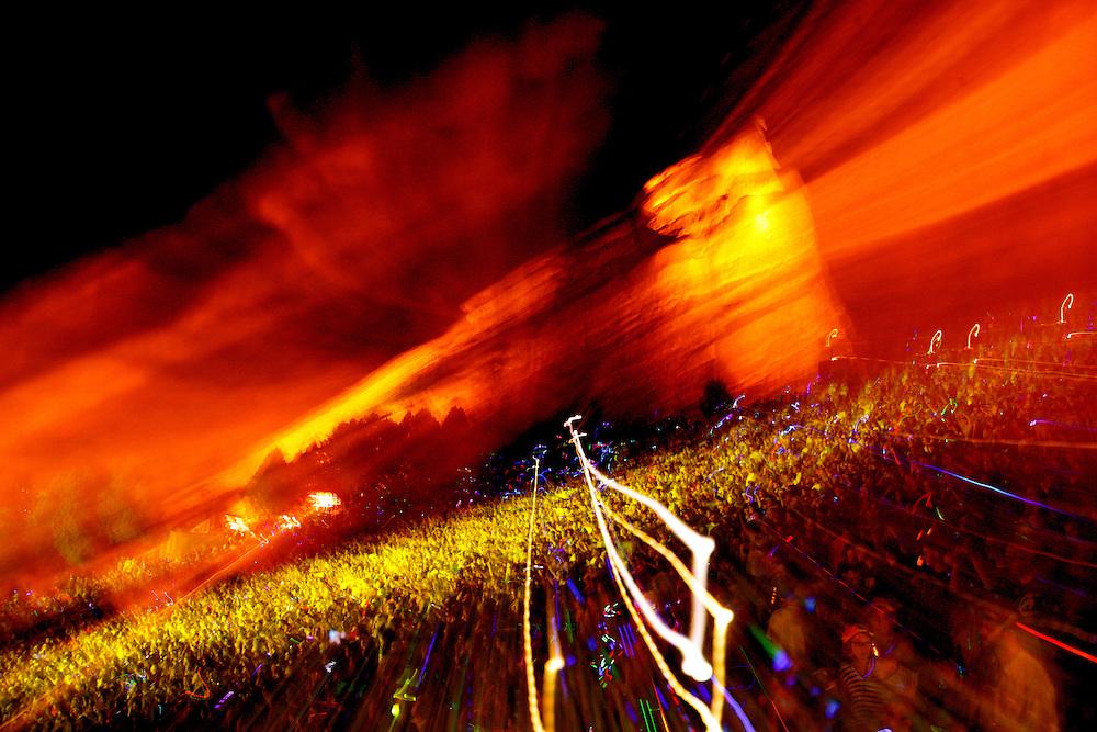 Red Rocks Amphitheater Morrison, Colorado. Kinetic Light Photography.
