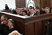 De Nederlandse Bachvereniging brengt dit jaar vijf uitvoeringen van de Matthäus-Passion in de Grote Kerk in Naarden .<br /> <br /> Op de foto:  Jan Peter Balkenende en partner