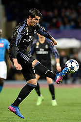March 7, 2017 - Rome, Italy - Alvaro Morata of Real Madrid during the UEFA Champions League Round of 16 game 2 match between Napoli and Real Madrid at Stadio San Paolo, Naples, Italy on 7 March 2017. (Credit Image: © Giuseppe Maffia/NurPhoto via ZUMA Press)