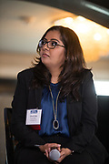 Sharmi Shah talks during the Business of Cannabis event at the Silicon Valley Capital Club in San Jose, California, on April 4, 2019. (Stan Olszewski for Silicon Valley Business Journal)