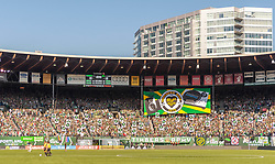October 21, 2018 - Portland, OR, U.S. - PORTLAND, OR - OCTOBER 21, 2018: Portland supoeters group Timbers Army displays a tiffo moments before the Portland Timbers 3-0 victory over Real Salt lake on October 21, 2018, at Providence Park in Portland, Oregon. (Photo by Diego Diaz/Icon Sportswire) (Credit Image: © Diego Diaz/Icon SMI via ZUMA Press)
