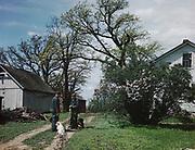 0722-04.   Illinois agricultural scene, 1940s,
