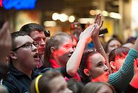 13.04.2013 Bialystok Koncert discopolowego zespolu Weekend w Galerii Handlowej Alfa n/z publicznosc fot Michal Kosc / AGENCJA WSCHOD