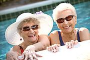 Active Adult Seniors Ladies In The Pool