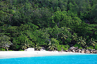 beach of silhouette island in seychelles indian ocean
