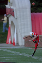 17 October 2009:  Zach Kutch kicks off. The Indiana State Sycamores tumble to the Illinois State Redbirds 38-21 at Hancock Stadium on campus of Illinois State University in Normal Illinois