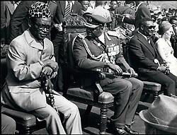Jan. 01, 1976 - Mobutu with Amin and Bokassa. President Mobutu Sese Seko of Zaire, with Idi Amin of Uganda and Life - Press. Jean Bedel Bokassa of the C.A.R. Al Kampala, Uganda. Credit: Camerapix. (Credit Image: © Keystone Press Agency/Keystone USA via ZUMAPRESS.com)