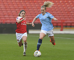February 23, 2019 - Sheffield, England, United Kingdom - Keira Walsh (Manchester City) chased during the  FA Women's Continental League Cup Final  between Arsenal and Manchester City Women at the Bramall Lane Football Ground, Sheffield United FC Sheffield, Saturday 23rd February. (Credit Image: © Action Foto Sport/NurPhoto via ZUMA Press)