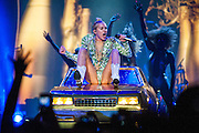 Miley Cyrus on her Bangerz Tour in Chicago.