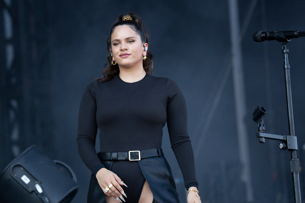Rosalia performing at the Austin City Limits Music Festival in Austin, TX on October 6, 2019.