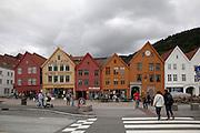 Norway, Bergen, Fjord's Gate, Bryggen quarter <br /> <br /> Noruega, Bergen, Portal de los fiordos, Barrio de Bryggen