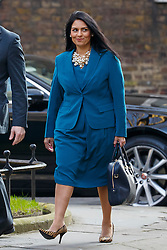 © Licensed to London News Pictures. 22/03/2016. London, UK. Minister of State for Employment PRITI PATEL attending a cabinet meeting in Downing Street on Tuesday, 22 March 2016. Photo credit: Tolga Akmen/LNP