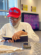 "6/10/2020 Jackson MS. <br /> Pastor Robert West,  gifted James Meredith, the first black man to attend the University of Ole Miss,  his new "" New Miss "" baseball hat about a year ago. He said ""The day James Meredith stepped onto the campus of The University of Mississippi  it was no longer ""Ole Miss""  it ceased to exist. It was now ""New Miss"" and Meredith should never promote the old Miss. Meredith didn't wear the hate at first, for months, because he was mad he hadn't thought of the slogan,  ""New Miss."" Meredith now wears the "" New Miss"" hat most days and feels Mississippi is the center of the universe and that if change is coming, and it is, It will start here first in Mississippi. <br /> The  54th Anniversary of Meredith's March Against Fear, was June 5th, and with the recent murder of another black man, George Floyd at the knees and hands of 4 former Minneapolis Minnesota police officers. Meredith's March is even more relevant now.  Meredith went on to say ""  He believes Mississippi is the most important and powerful word in the English language."" Meredith also said he failed his race. Meredith  has completed 2 of his 3 missions from God. The first was to break the white supremacy barrier at The University of Mississippi- he did this in 1962- Kennedy used the Insurrection Act to ensure Meredith's  safety to enroll on campus. <br /> Meredith's second mission - was his March Against Fear, June of 1966. He planned to march from Memphis to Jackson Mississippi. <br /> Meredith was shot on the second day of his march by Aubrey James Norvell a member of the KKK. Norvell would later be the first white man convicted of shooting an African American in Mississippi history. His 3rd and last mission he says is his most important. Meredith will be 87 June 25th and is now embarking on his last mission from God. It is  is to heal racial divisions through honest dialogue and to foster good moral character in today's youth. Protests have broken out around the world in response to police brutality and"