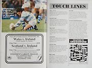 Irish Rugby Football Union, Ireland v Argentina, Friendly, Landsdowne Road, Dublin, Ireland, Saturday 27th October, 1990,.27.10.1990, 10.27.1990,..Referee- Colin Hawke, New Zealand, ..Score- Ireland 20 - 18 Argentina, ..Irish Team, ..K Murphy,  Wearing number 15 Irish jersey, Full Back, Cork Constitution Rugby Football Club, Cork, Ireland,..K J Hooks, Wearing number 14 Irish jersey, Right Wing, Bangor Rugby Football Club, Down, Northern Ireland,..B J Mullin, Wearing number 13 Irish jersey, Right Centre, Blackrock College, Rugby Football Club, Dublin, Ireland, ..M J Kiernan, Wearing number 12 Irish jersey, Left Centre, Dolphin Rugby Football Club, Cork, Ireland, ..K D Crossan, Wearing number 11 Irish jersey, Left Wing, Instonians Rugby Football Club, Belfast, Northern Ireland,..B A Smith, Wearing number 10 Irish jersey, Out Half, Leicester Rugby Football Club, Leicester, England, ..A C Rolland, Wearing number 9 Irish jersey, Scrum Half, Blackrock College, Rugby Football Club, Dublin, Ireland, ..P J Lawlor, Wearing number 8 Irish jersey, Forward, Bective Rangers Rugby Football Club, Dublin, Ireland,..W D McBride, Wearing number 7 Irish jersey, Forward, Malone Rugby Football Club, Belfast, Northern Ireland, ..N P Mannion, Wearing number 6 Irish jersey, Forward, Landsdowne Rugby Football Club, Dublin, Ireland,..P S C Johns, Wearing number 5 Irish jersey, Forward, Trinity College Rugby Football Club, Dublin, Ireland, ..D G Lenihan, Wearing number 4 Irish jersey, Captain of the Irish team, Forward, Cork Constitution Rugby Football Club, Cork, Ireland,..D C Fitzgerald, Wearing number 3 Irish jersey, Forward, Landsdowne Rugby Football Club, Dublin, Ireland,..J P McDonald, Wearing number 2 Irish jersey, Forward, Malone Rugby Football Club, Belfast, Northern Ireland, ..N J Popplewell, Wearing number 1 Irish jersey, Forward, Greystones Rugby Football Club, Wicklow, Ireland,..Argentina Team, ..A Scolni, Wearing number 15 Argentinian jersey, Full Back, Asociación Alumni Rugby