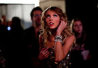 Taylor Swift performs at the 2009 Z100's Jingle Ball at Madison Square Garden in New York. ..(Photo by Robert Caplin)..