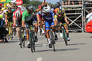 Arrival, Fernando Gaviria (COL - QuickStep - Floors) - Peter Sagan (SVK - Bora - Hansgrohe) during the Tour de France 2018, Stage 4, Team Time Trial, La Baule - Sarzeau (195 km) on July 10th, 2018 - Photo Ilario Biondi / BettiniPhoto / ProSportsImages / DPPI
