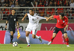 September 7, 2018 - Goyang, Gyeonggi, South Korea - September 7, 2018-Goyang, South Korea-Lee Yong of South Korea and Daniel Colindres of Costa Rica action on the field during an Football A Match South Korea vs Costa Rica at Goyang Sports Complex in South Korea. Match Won South KOrea, Score by 2-0. (Credit Image: © Ryu Seung-Il/ZUMA Wire)