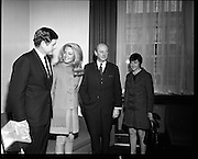 Edward Kennedy visits Taoiseach, Jack Lynch.<br /> 1970.<br /> 04.03.1970.<br /> 03.04.1970.<br /> 4th March 1970