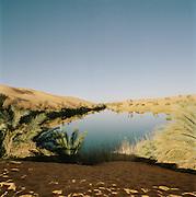 The Gebraoun Lake, part of the Ubari Lakes, Sahara Desert, Libya