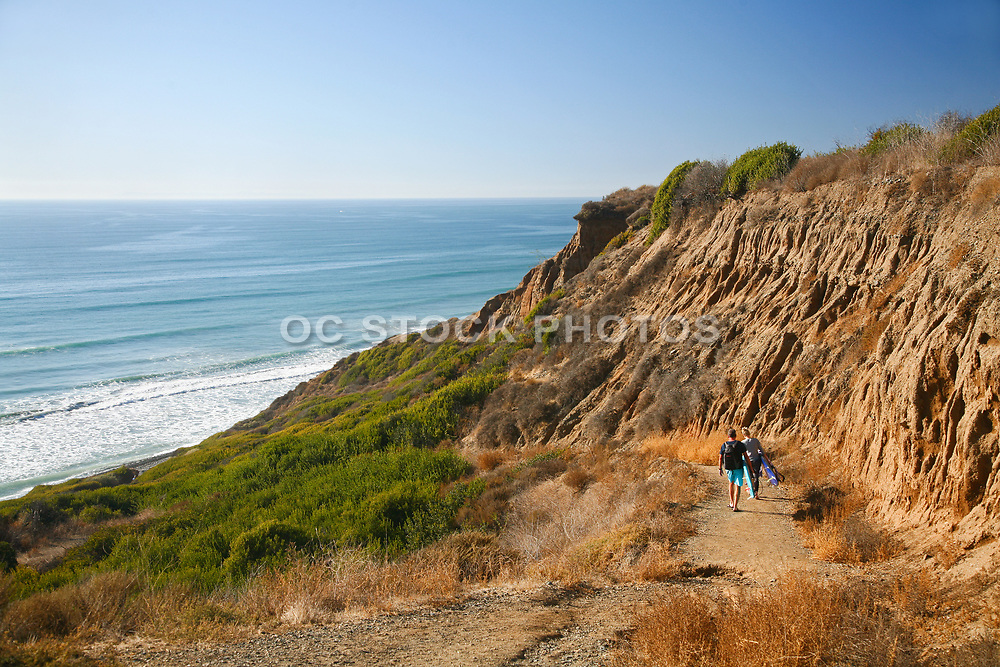 Surfers Heading Down to San Onofre State Beach on Bluff Beach Trail 2