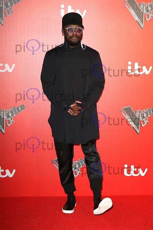 will.i.am, The Voice UK - Press Launch, Millbank Tower, London UK, 04 January 2017, Photo by Richard Goldschmidt