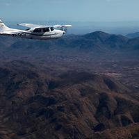 Africa, Namibia, Kaokoland. Flying over the remote landscape of Kaokoland, Namibia.