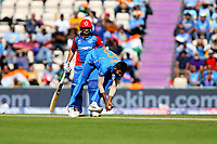 Cricket - 2019 ICC Cricket World Cup - Group Stage: India vs. Afghanistan<br /> <br /> Jasprit Bumrah of India catches Hashmatullah Shahidi of Afghanistan off his own bowling to dismiss the Afghan batsman during the cricket world cup match at the Hampshire Bowl, Southampton.<br /> <br /> COLORSPORT/SHAUN BOGGUST