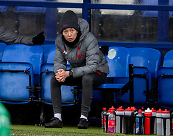 BIRKENHEAD, ENGLAND - Sunday, March 14, 2021: Liverpool's interim manager Amber Whiteley during the FA Women's Championship game between Liverpool FC Women and Coventry United Ladies FC at Prenton Park. Liverpool won 5-0. (Pic by David Rawcliffe/Propaganda)