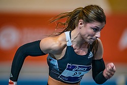 Demi van den Wildenberg in action on the 60 meters during limit matches to be held simultaneously with the Dutch Athletics Championships on 13 February 2021 in Apeldoorn