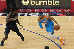 March 10, 2018 - Los Angeles, CA, U.S. - LOS ANGELES, CA - MARCH 10: LA Clippers forward Tobias Harris (34) drives the ball inside during the game between the Orlando Magic and the LA Clippers on March 10, 2018, at STAPLES Center in Los Angeles, CA. (Photo by David Dennis/Icon Sportswire) (Credit Image: © David Dennis/Icon SMI via ZUMA Press)