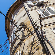 Electrical distribution on a building in an older section of Split, Croatia.