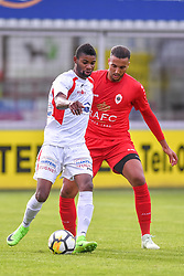 June 22, 2018 - Hoogstraten, BELGIUM - Antwerp's Laurent Mendy and Hoogstraten's Wim Bokila fight for the ball during a friendly game, the first of the new season 2018-2019 for Antwerp, between Hoogstraten and Antwerp, in Hoogstraten, Friday 22 June 2018. BELGA PHOTO LUC CLAESSEN (Credit Image: © Luc Claessen/Belga via ZUMA Press)