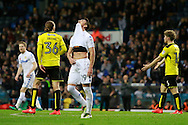 Leeds United's Pablo Hernandez (19) reacts after his shot goes close during the EFL Sky Bet Championship match between Leeds United and Burton Albion at Elland Road, Leeds, England on 29 October 2016. Photo by Richard Holmes.