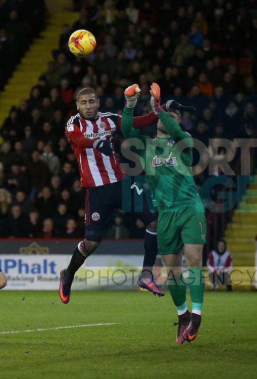 Leon Clarke of Sheffield Utd during the English League One match at Bramall Lane Stadium, Sheffield. Picture date: December 26th, 2016. Pic Simon Bellis/Sportimage