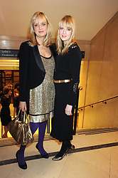 TWIGGY and her daughter CARLY LAWSON at the 2008 British Fashion Awards held at the Lawrence Hall, Westminster, London on 25th November 2008.