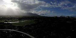 West Maui Mountains and Kaanapali Golf Course and Resorts, Maui, Hawaii, US