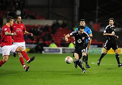Bristol City's Brett Pitman goes close with a shot - Photo mandatory by-line: Matt Bunn/JMP - 25/01/2011 - SPORT - FOOTBALL - npower championship-Nottingham Forest v Bristol city-City Ground-Nottingham