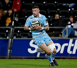 Rory Hughes of Glasgow Warriors<br /> <br /> 2nd November, Liberty Stadium , Swansea, Wales ; Guinness pro 14's Ospreys Rugby v Glasgow Warriors ;  <br /> <br /> Credit: Simon King/News Images<br /> <br /> Photographer Simon King/Replay Images<br /> <br /> Guinness PRO14 Round 8 - Ospreys v Glasgow Warriors - Friday 2nd November 2018 - Liberty Stadium - Swansea<br /> <br /> World Copyright © Replay Images . All rights reserved. info@replayimages.co.uk - http://replayimages.co.uk